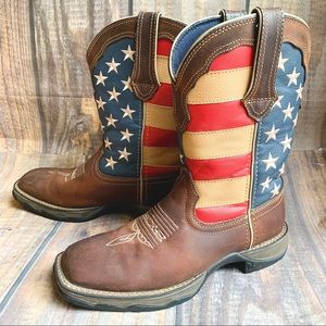 Durango | Lady Rebel American Flag Boots Size 6.5